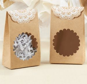 Rustic Kraft Tent Favor Boxes 12ct