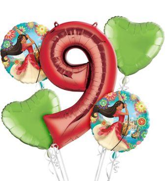 Elena of Avalor 9th Birthday Balloon Bouquet 5pc