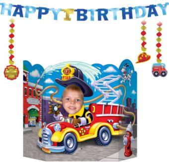 Firefighter 1st Birthday Decorating Kit