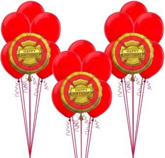 Firefighter Birthday Balloon Kit