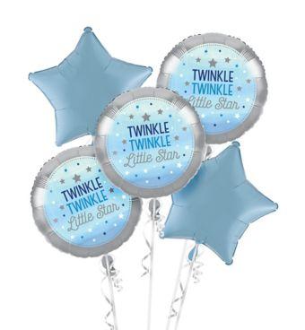 Blue Twinkle Twinkle Little Star Balloon Bouquet