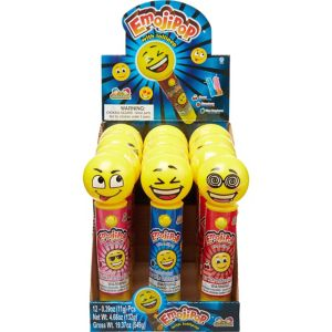 Light-Up Smiley Lollipops 12ct