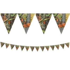 Hunting Camo Pennant Banner