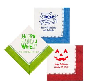 Personalized Halloween Bordered Lunch Napkins