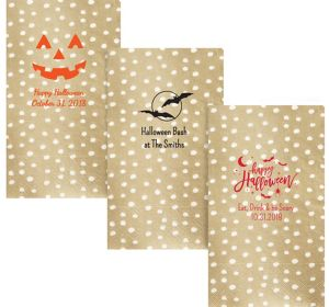 Personalized Halloween Small Dots Guest Towels