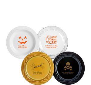 Personalized Halloween Premium Plastic Dessert Plates