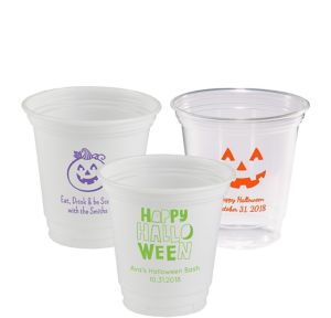 Personalized Halloween Plastic Party Cups 12oz