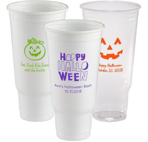 Personalized Halloween Plastic Party Cups 44oz