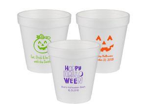 Personalized Halloween Foam Cups 10oz