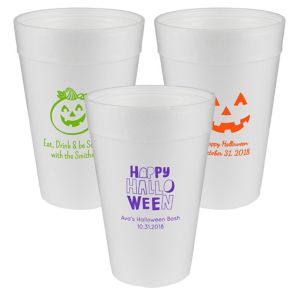 Personalized Halloween Foam Cups 32oz