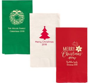 Personalized Christmas Guest Towels
