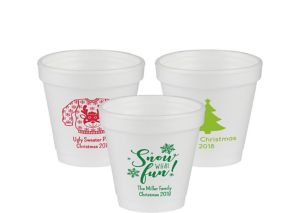 Personalized Christmas Foam Cups 4oz