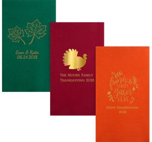 Personalized Thanksgiving Premium Guest Towels