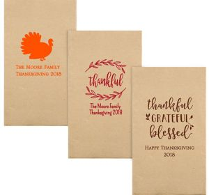 Personalized Thanksgiving Eco-Friendly Guest Towels