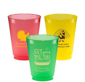 Personalized Thanksgiving Plastic Shatterproof Cups 16oz