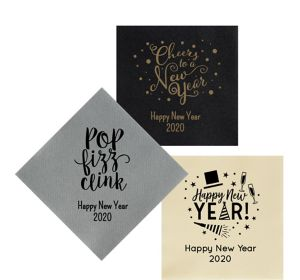 Personalized New Year's Premium Lunch Napkins