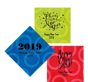 Personalized New Year's Circles Lunch Napkins