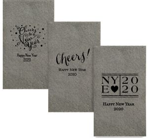 Personalized New Year's Tweed Print Guest Towels