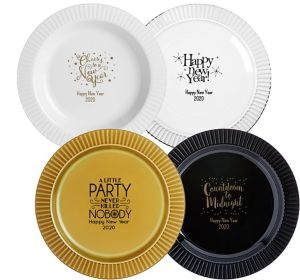 Personalized New Year's Premium Plastic Dinner Plates