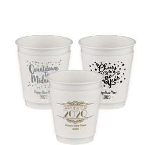Personalized New Year's Insulated Paper Cups 12oz