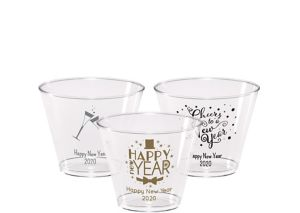 Personalized New Year's Hard Plastic Cups 9oz