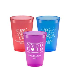 Personalized New Year's Plastic Shatterproof Cups 12oz