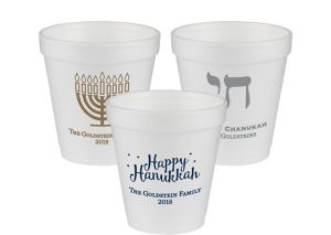 Personalized Hanukkah Foam Cups 10oz