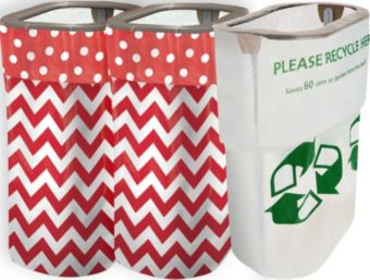 Red Polka Dot & Chevron Clean-Up Kit