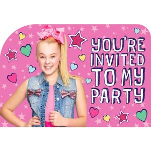 Jojo Siwa Invitations 8ct Party City