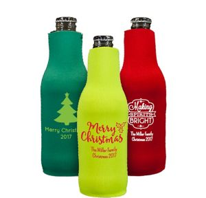 Personalized Christmas Bottle Huggers