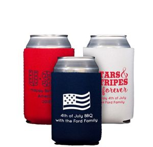 Personalized 4th of July Collapsible Can Coozies