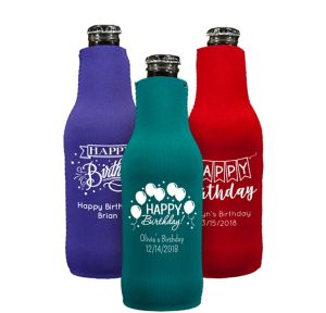 Personalized Birthday Bottle Huggers