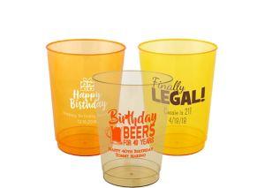 Personalized Milestone Birthday Hard Plastic Color Cups 10oz