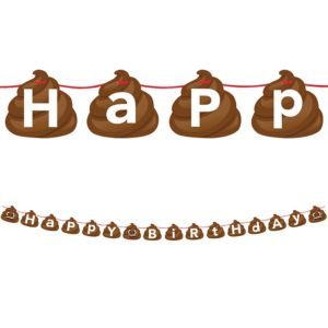 Poop Icon Birthday Banner
