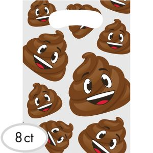 Poop Icon Favor Bags 8ct