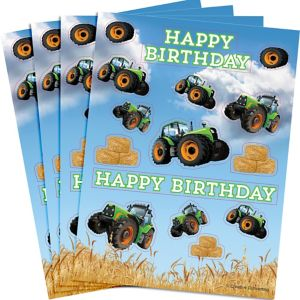Tractor Stickers 4 Sheets