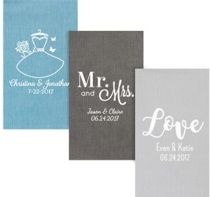 Personalized Wedding Bella Guest Towels