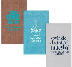 Personalized 1st Birthday Bella Guest Towels