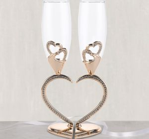 Sparkling Hearts Linked Champagne Flutes 2ct