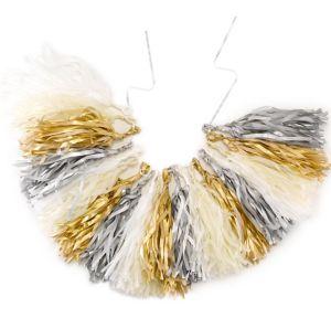 Gold, Silver & White Tassel Garland