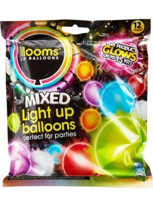 Illooms Light-Up Assorted Color LED Balloons 12ct