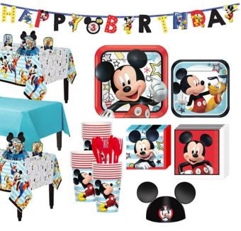 Mickey Mouse Tableware Party Kit for 24 Guests