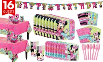 Minnie Mouse Tableware Party Kit for 16 Guests