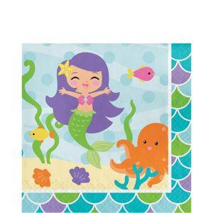 Friendly Mermaid Lunch Napkins 16ct