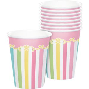 Pink Carousel Cups 8ct