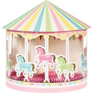 Pink Carousel Centerpiece