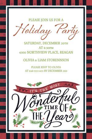 Custom Most Wonderful Time Invitations