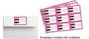 Custom Pink & Gold Confetti Stickers