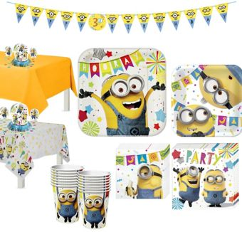 Minions Tableware Party Kit for 16 Guests