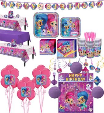 Shimmer and Shine Tableware Ultimate Kit for 24 Guests